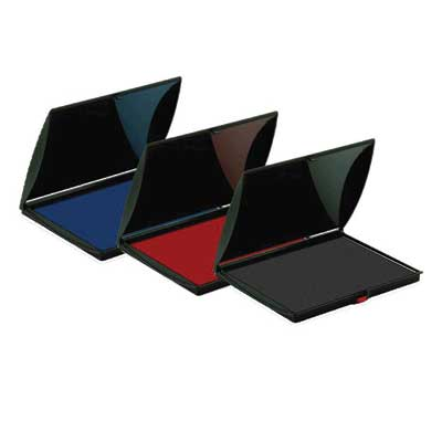 shiny large ink pad s-4 black, blue, red, green