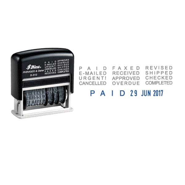 Shiny S-312 Self Inking Dater