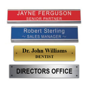 Nameplates, Namebadges, & Slider Signs